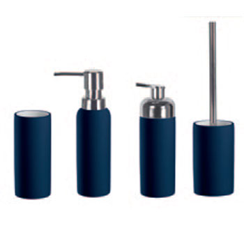 Excellent Dark Blue Bathroom Accessories Contemporary - Exterior ...