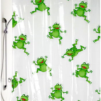 frog bathroom shower curtain and accessory