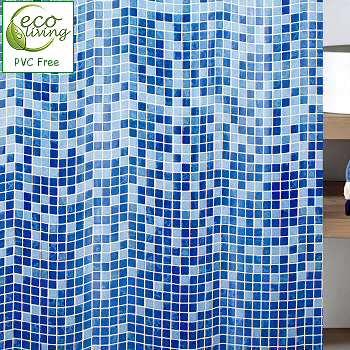 Mandolino : Mosaic PVC Free Non Toxic Childrens Shower Curtain