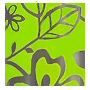 vinyl contemporary spring green and clear tub width shower curtain