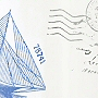sailboat design fabric shower curtain