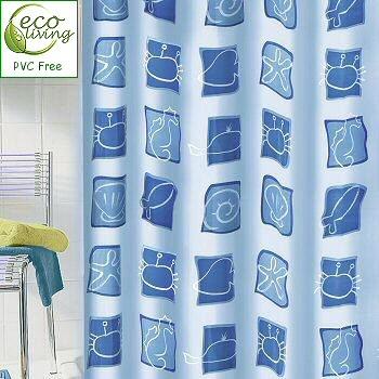 Blue Sea Beach Theme Peva Shower Curtain