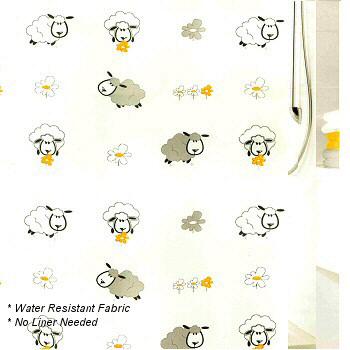 lamb shower curtain set