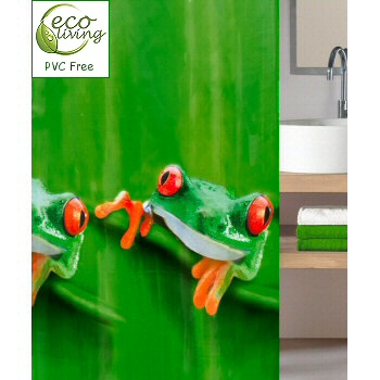 Tree Frog Frog Lover Peva Pvc Non Toxic Shower Curtain