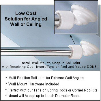 Image Result For Shower Curtain Rod For Sloped Ceiling