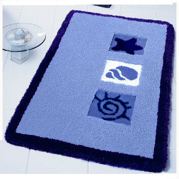 Beach Seashell Kids Bathroom Rugs