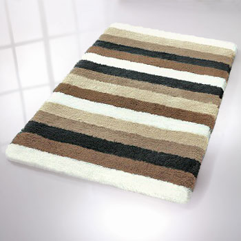 Bilbao Striped Bath Rug With Thick Pile
