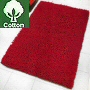 closeout bath rug short cotton shag in garnet red