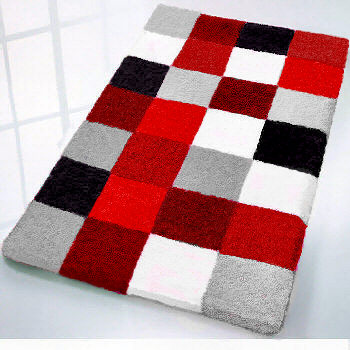 Contemporary Bathroom Mats red bath rug | roselawnlutheran