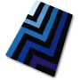 striped bathroom rug with modern design in closeout in royal blue