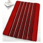 striped low pile bathroom rug no worries about your door opening over this design