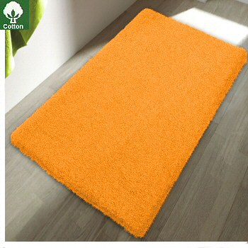 Colorful Cotton Bath Rugs With Non Slip Backing