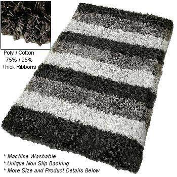 Unique Modern Shag Bath Rug Available In Extra Large Rug