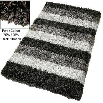 Unique Modern Shag Bath Rug Available In Extra Large Rug Sizes From Vita Futura