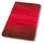 plush striped bathroom rug design in wine red, navy blue or brandy orange