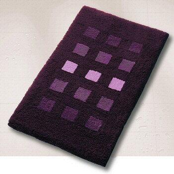 Deep purple bath rugs