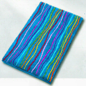Rainbow Non Slip Childrens Bath Rug With A Rainbow Of Colors