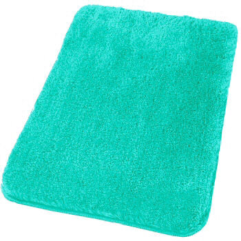 Perfect Turquoise Cotton Bath Mat 43quot X 21quot