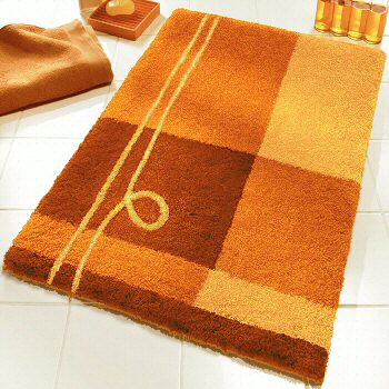 Contemporary Bright Colored Bath Rugs In Extra Large Sizes
