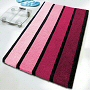 high quality affordable striped multi color bath rugs in magenta, green, blue and grey