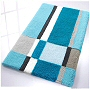 luxury bathroom mats with contemporary modern design in yellow, blue, green and aqua