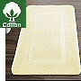 affordable non slip cotton bath rug in snow white and champagne