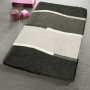 modern bath rug in small medium size available in grey